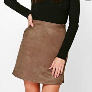 • BooHoo • suede skirt